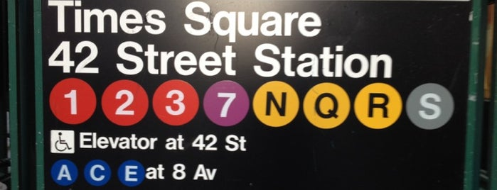 MTA Subway - 42nd St/Times Square/Port Authority Bus Terminal (A/C/E/N/Q/R/W/S/1/2/3/7) is one of NY.