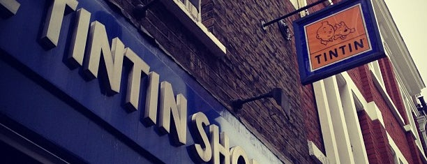 The Tintin Shop is one of The London Geek Trail.