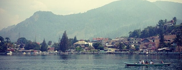 KMP Ferry Tao Toba Ajibata is one of Must-visit Lakes in Samosir.