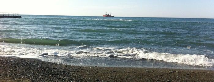 Пляж «Жемчужина» / Zhemchuzhina Beach is one of Сочи @ chaluskin.ru.