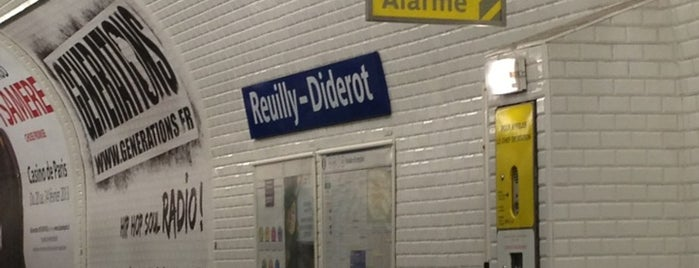 Métro Reuilly–Diderot [1,8] is one of Métro de Paris.