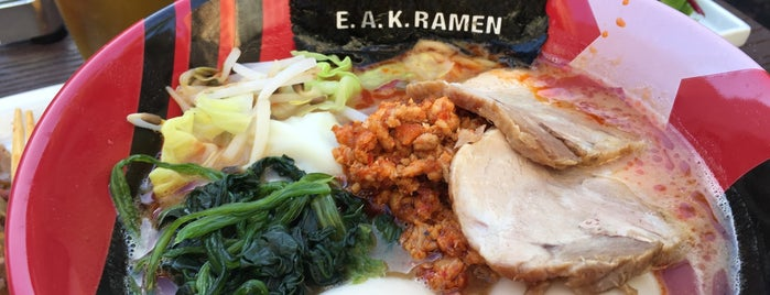 EAK Ramen is one of LA: Central, East, Valleys.