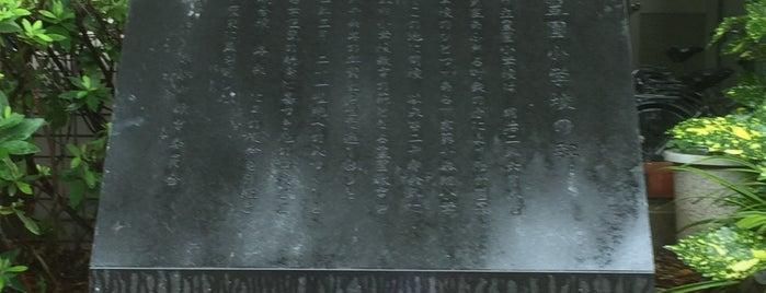 豊園小学校の碑 is one of 近現代.