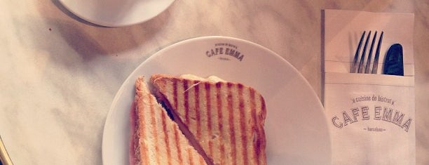 Cafè Emma is one of Breakfast and nice cafes in Barcelona.