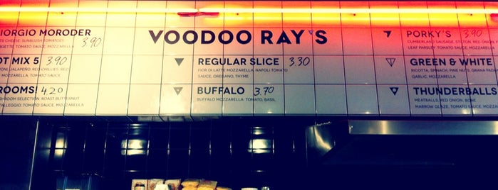 Voodoo Ray's is one of Pizza and more pizza.