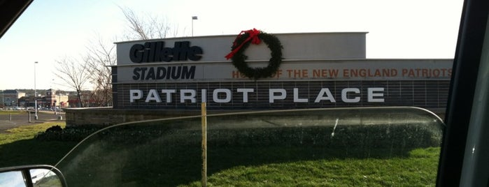 Patriot Place is one of just a list of places.