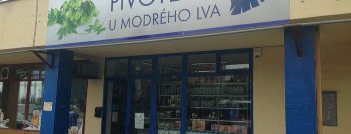 Pivotéka U Modrého lva is one of Pivotéky v Česku (pivnirecenze.cz).