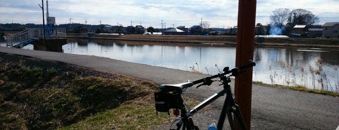 手賀川 果ての休憩所 is one of サイクリング.