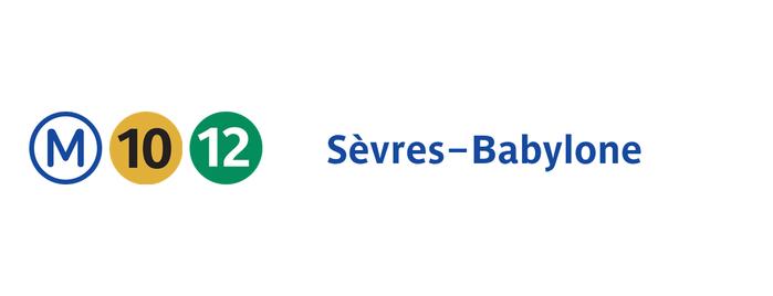 Métro Sèvres—Babylone [10,12] is one of Stations de metro a Paris.