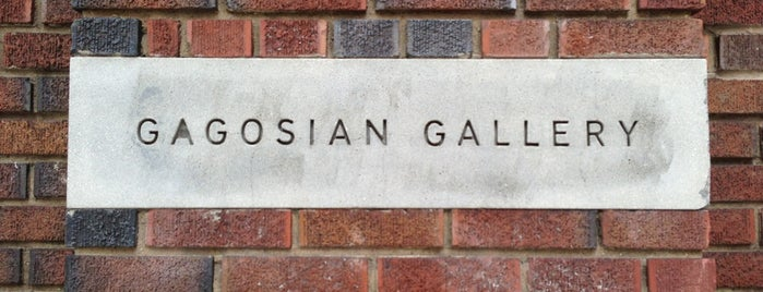 Gagosian Gallery is one of NYC Trip To-Do.