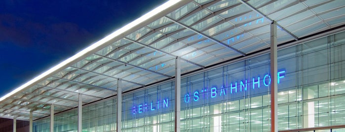 Berlin Ostbahnhof is one of Official DB Bahnhöfe.