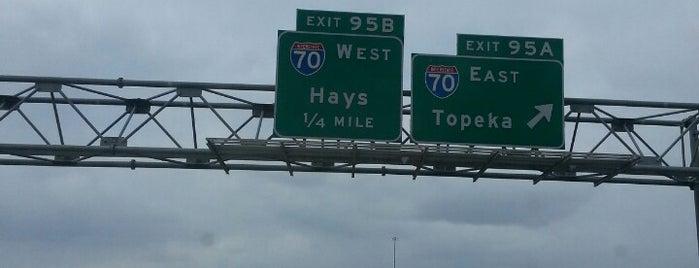 I-70/I-135/US-81 Interchange is one of Most visited.