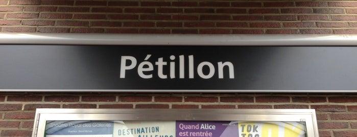 Pétillon (MIVB / STIB) is one of Belgium / Brussels / Tram / Line 25.