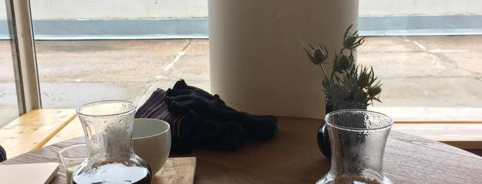Maja coffee roastery is one of Helsinki.