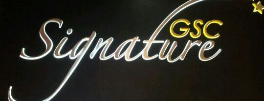 Golden Screen Cinemas (GSC) Signature is one of Movie Theaters  (Worldwide).