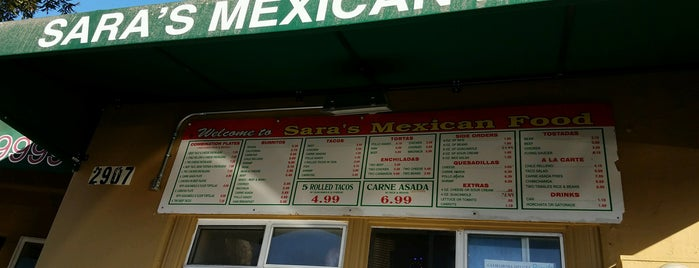 Sara's Mexican Food is one of San Diego: Taco Shops & Mexican Food.