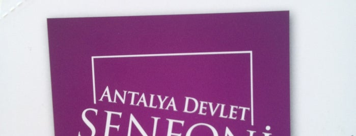 Antalya Devlet Senfoni Orkestrası is one of Yerler - Antalya.