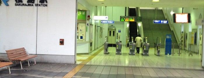 Sakurajima Station is one of アーバンネットワーク 2.
