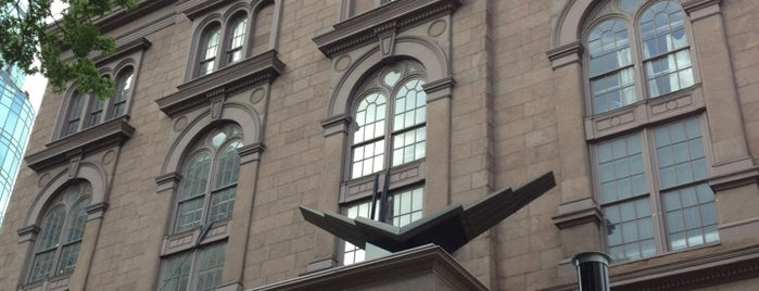 Cooper Union Great Hall is one of Historic NYC Landmarks.