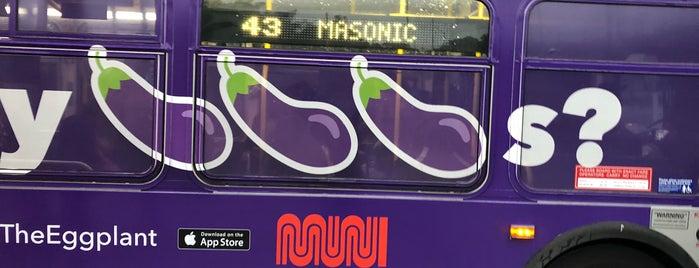 MUNI Bus Stop - Geneva & San Jose is one of moonee.