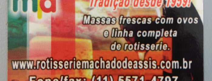 Rotisserie Machado de Assis is one of Italiana.