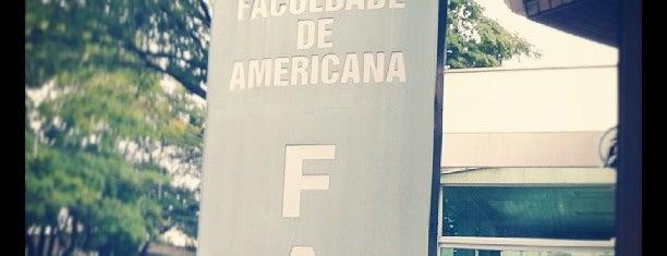 Faculdade de Americana (FAM) is one of Reh.