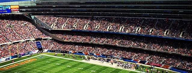 Soldier Field is one of NFL STADIUMS IVE BEEN TO.