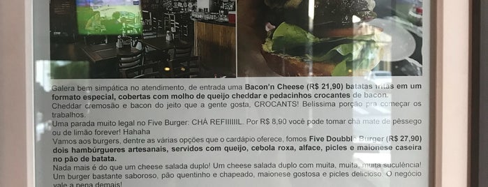 Five Burguer is one of CH to do list.