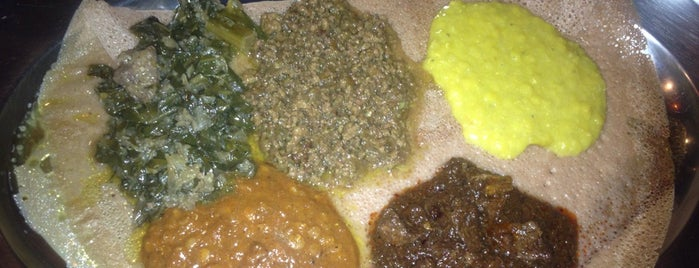 Meskel Ethiopian Restaurant is one of Free/dirt cheap NYC places to take out-of-towners.