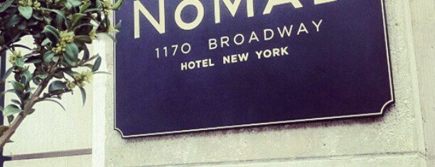 The NoMad Hotel is one of NY Fashion Weeks 7-14 Feb 2013 (inactive).