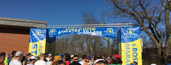 Boston Marathon Start Line is one of USA Boston.
