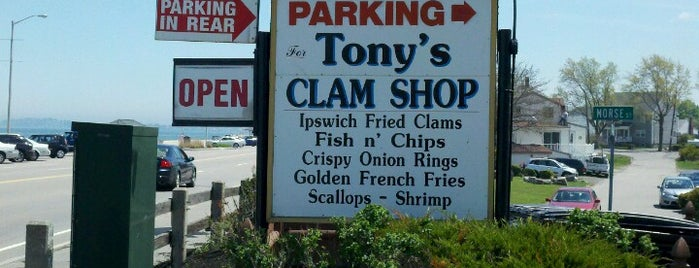Tony's Clam Shop is one of Quincy- City of Presidents.