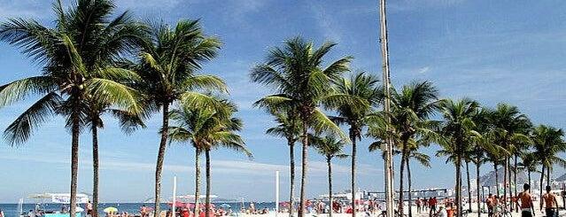 Copacabana Beach is one of Meus lugares.