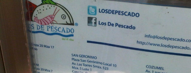 "Los de Pescado is one of +Fav ""Cancún""."