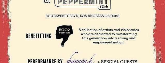 The Peppermint Club is one of The 15 Best Nightclubs in Los Angeles.