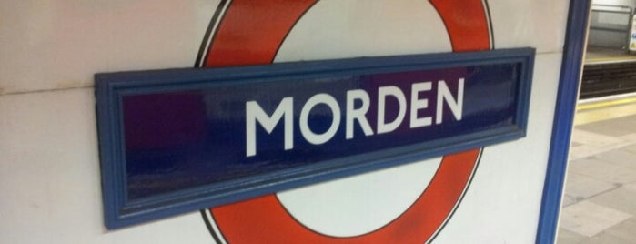 Morden London Underground Station is one of Tube Challenge.