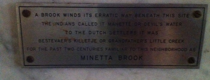 Minetta Brook Tube is one of Strange Places and Oddities in NYC.