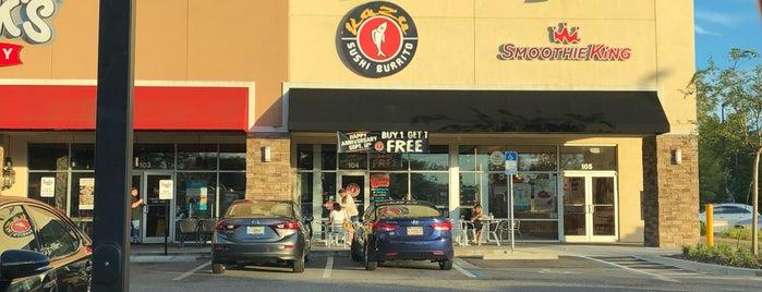 Kazu Sushi Burrito is one of Jacksonville.