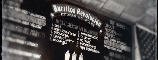 Burritos Revolucion is one of Estrella Del Mar Insider's Guide.