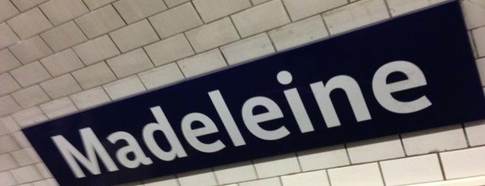 Métro Madeleine [8,12,14] is one of Stations de metro a Paris.