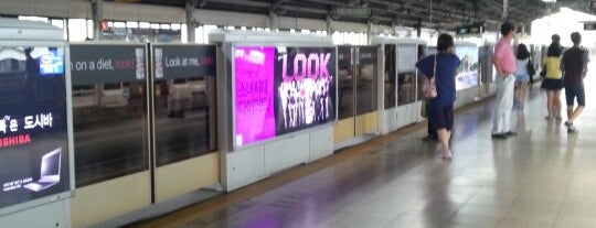 Gangbyeon Stn. is one of Subway Stations in Seoul(line1~4 & DX).