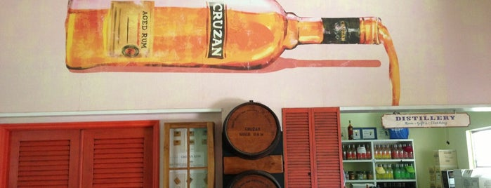 Cruzan Rum Distillery is one of Places to try.