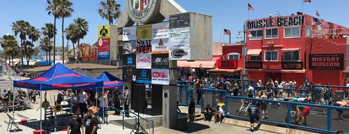 Muscle Beach is one of Los Angeles.