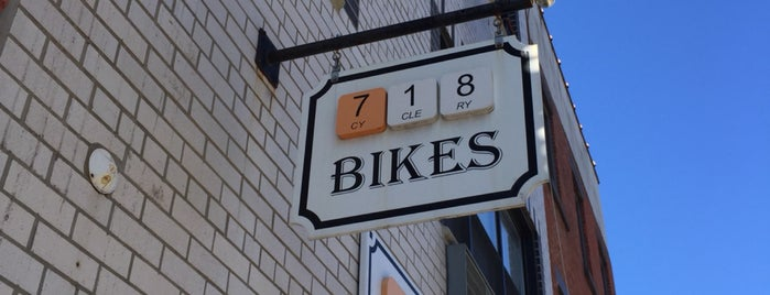 718 Cyclery is one of Cole's Brooklyn Favorites.