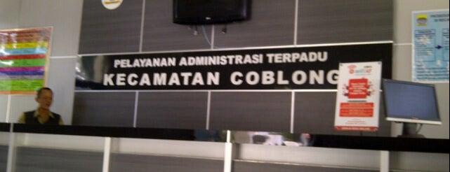 Kantor Kecamatan Coblong is one of Kantor Pemerintah Kota Bandung.