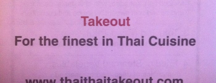Thai Thai Takeout is one of International.
