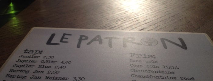 Le Patron is one of Amsterdam koffie/lunch.