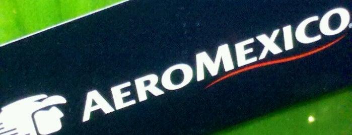 Check-in AeroMexico is one of Aeroporto de Guarulhos (GRU Airport).