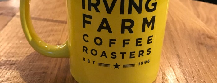 Irving Farm Coffee Roasters is one of NYC Manhattan 14th-65th Sts & Central Park.