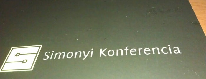 Simonyi Konferencia is one of Re-open/etc..